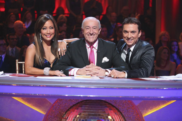 "<div class=""meta ""><span class=""caption-text "">'Dancing with the Stars' judges Carrie Ann Inaba, Len Goodman and Bruno Tonioli appear in a promotional photo ahead of the season 17 premiere on Sept. 16, 2013. (ABC Photo / Adam Taylor)</span></div>"
