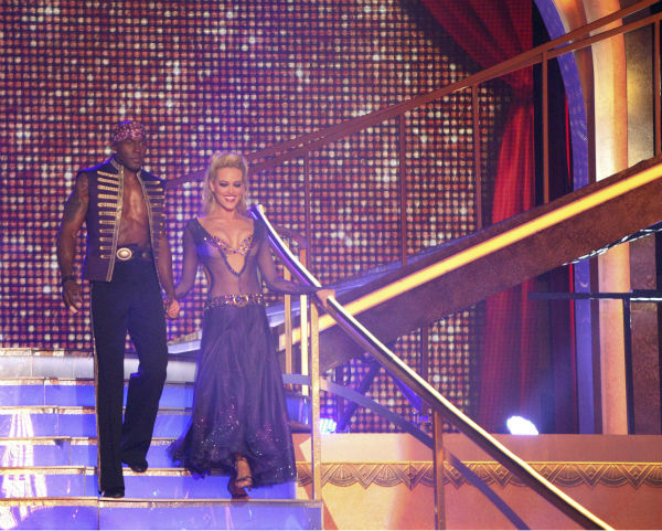 "<div class=""meta image-caption""><div class=""origin-logo origin-image ""><span></span></div><span class=""caption-text"">Football star Donald Driver and his partner Peta Murgatroyd received 27 out of 30 points from the judges for their Paso Doble on week 4 of 'Dancing With The Stars' on April 9, 2012. (ABC Photo / Adam Taylor)</span></div>"