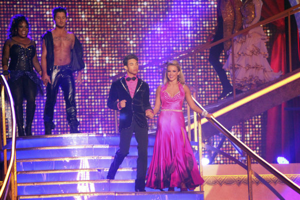 Disney Channel star Roshon Fegan and his partner Chelsie Hightower received 26 out of 30 points from the judges for their Viennese Waltz on week 4 of &#39;Dancing With The Stars&#39; on April 9, 2012. Also pictured: &#39;The View&#39; co-host Sherri Shepherd and her partner Valentin Chmerkovskiy .  <span class=meta>(ABC Photo &#47; Adam Taylor)</span>