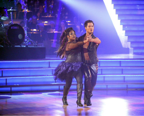 "<div class=""meta image-caption""><div class=""origin-logo origin-image ""><span></span></div><span class=""caption-text"">'The View' co-host Sherri Shepherd and her partner Valentin Chmerkovskiy received 21 out of 30 points from the judges for their Tango on week 4 of 'Dancing With The Stars' on April 9, 2012. (ABC Photo / Adam Taylor)</span></div>"