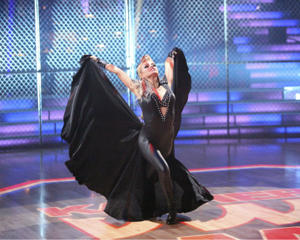 Classical singer Katherine Jenkins and her partner Mark Ballas received 24 out of 30 points from the judges for their Paso Doble on week 4 of 'Dancing With The Stars' on April 9, 2012.