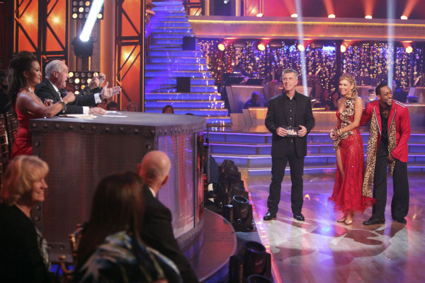 Jaleel White, who played Steve Urkel on &#39;Family Matters,&#39; and his partner Kym Johnson received 22 out of 30 points from the judges for their Tango on week 4 of &#39;Dancing With The Stars&#39; on April 9, 2012. <span class=meta>(ABC Photo &#47; Adam Taylor)</span>