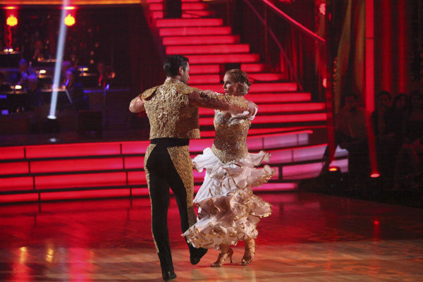 Melissa Gilbert, a former child star who played Laura on &#39;Little House on the Prairie,&#39; and her partner Maksim Chmerkovskiy received 22 out of 30 points from the judges for their Paso Doble on week 4 of &#39;Dancing With The Stars&#39; on April 9, 2012. <span class=meta>(ABC Photo &#47; Adam Taylor)</span>