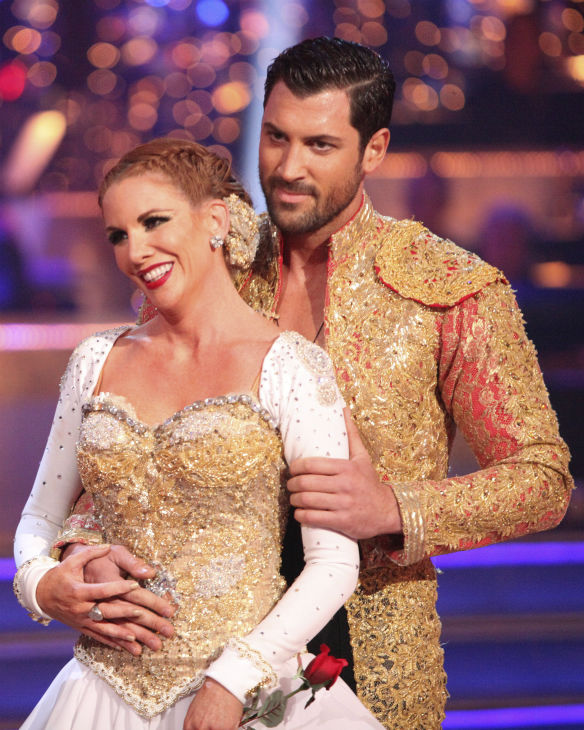 "<div class=""meta ""><span class=""caption-text "">Melissa Gilbert, a former child star who played Laura on 'Little House on the Prairie,' and her partner Maksim Chmerkovskiy received 22 out of 30 points from the judges for their Paso Doble on week 4 of 'Dancing With The Stars' on April 9, 2012. (ABC Photo / Adam Taylor)</span></div>"