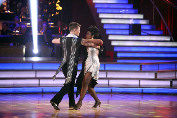 Gladys Knight and her partner Tristan MacManus...