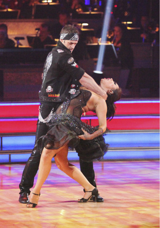 Telenovela star William Levy and his partner Cheryl Burke received 22 out of 30 points from the judges for their Jive on week 4 of &#39;Dancing With The Stars&#39; on April 9, 2012. <span class=meta>(ABC Photo &#47; Adam Taylor)</span>