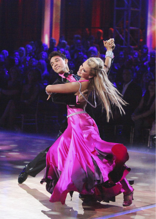 "<div class=""meta ""><span class=""caption-text "">Disney Channel star Roshon Fegan and his partner Chelsie Hightower received 26 out of 30 points from the judges for their Viennese Waltz on week 4 of 'Dancing With The Stars' on April 9, 2012. (ABC Photo / Adam Taylor)</span></div>"