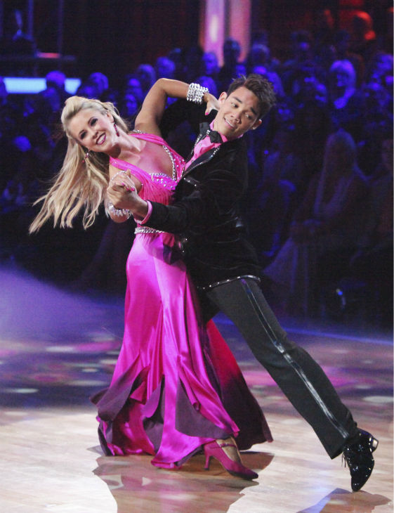 Disney Channel star Roshon Fegan and his partner Chelsie Hightower received 26 out of 30 points from the judges for their Viennese Waltz on week 4 of &#39;Dancing With The Stars&#39; on April 9, 2012. <span class=meta>(Photo&#47;Adam Taylor)</span>