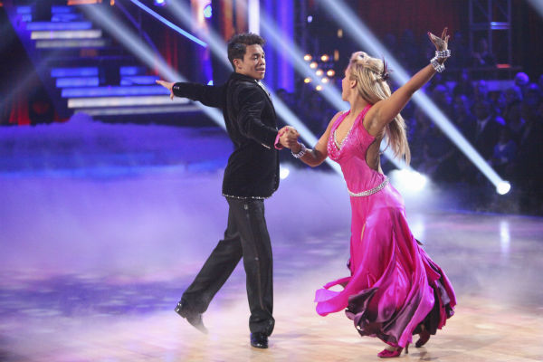 Disney Channel star Roshon Fegan and his partner Chelsie Hightower received 26 out of 30 points from the judges for their Viennese Waltz on week 4 of &#39;Dancing With The Stars&#39; on April 9, 2012. <span class=meta>(ABC Photo &#47; Adam Taylor)</span>