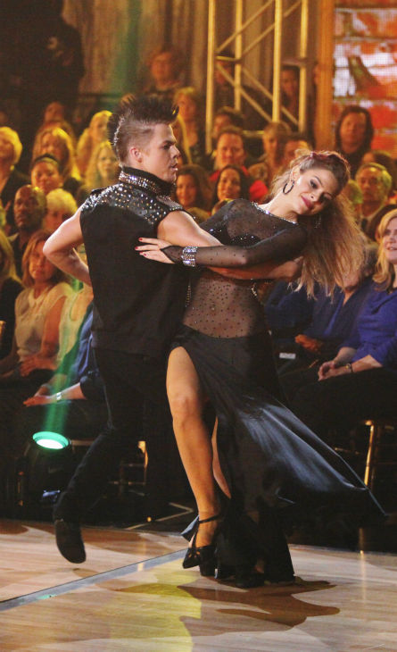 TV personality Maria Menounos and her partner Derek Hough received 26 out of 30 points from the judges for their Tango on week 4 of &#39;Dancing With The Stars&#39; on April 9, 2012. <span class=meta>(ABC Photo &#47; Adam Taylor)</span>