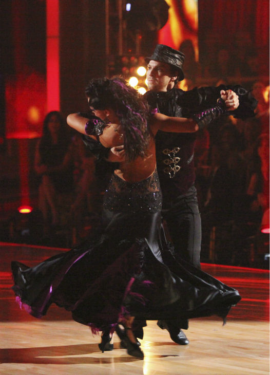 Singer Gavin DeGraw and his partner Karina Smirnoff received 23 out of 30 points from the judges for their Tango on week 4 of 'Dancing With