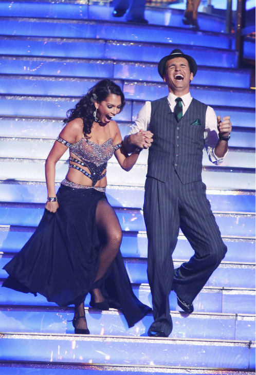 "<div class=""meta ""><span class=""caption-text "">Reality star Melissa Rycroft and her partner Tony Dovolani received 21 out of 30 points from the judges for their Fox Trot on the season premiere of 'Dancing With The Stars: All-Stars,' which aired on September 24, 2012.  (ABC / Adam Taylor)</span></div>"