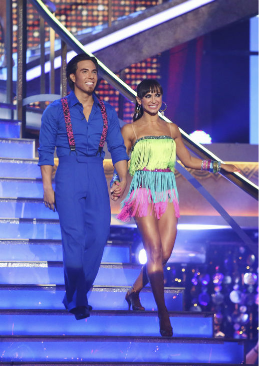 Apolo Anton Ohno and Karina Smirnoff appear in a still from 'Dancing With The Stars: All-Stars' on September 24, 2012.