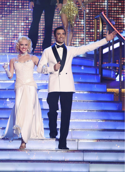 Gilles Marini and Peta Murgatroyd appear in a still from 'Dancing With The Stars: All-Stars' on September 24, 2012.