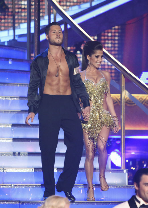 "<div class=""meta ""><span class=""caption-text "">'General Hospital' actress Kelly Monaco and her partner Valentin Chmerkovskiy received 21.5 out of 30 points from the judges for their Cha Cha Cha on the season premiere of 'Dancing With The Stars: All-Stars,' which aired on September 24, 2012.  (ABC / Adam Taylor)</span></div>"
