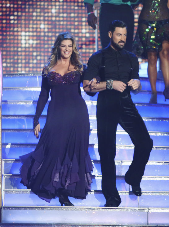 Kirstie Alley and Maksim Chmerkovskiy appear in a still from 'Dancing With The Stars: All-Stars' on September 24, 2012.