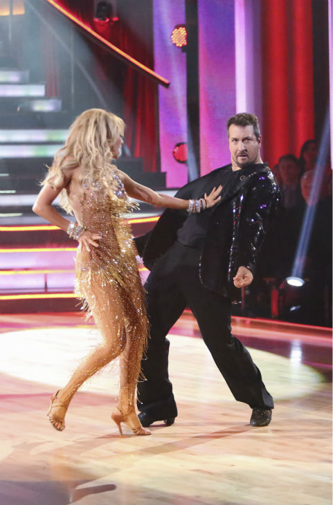 "<div class=""meta image-caption""><div class=""origin-logo origin-image ""><span></span></div><span class=""caption-text"">Former member of the boy band 'N Sync, Joey Fatone and his partner Kym Johnson received 20.5 out of 30 points from the judges for their Cha Cha Cha on the season premiere of 'Dancing With The Stars: All-Stars,' which aired on September 24, 2012.  (Photo/Adam Taylor)</span></div>"