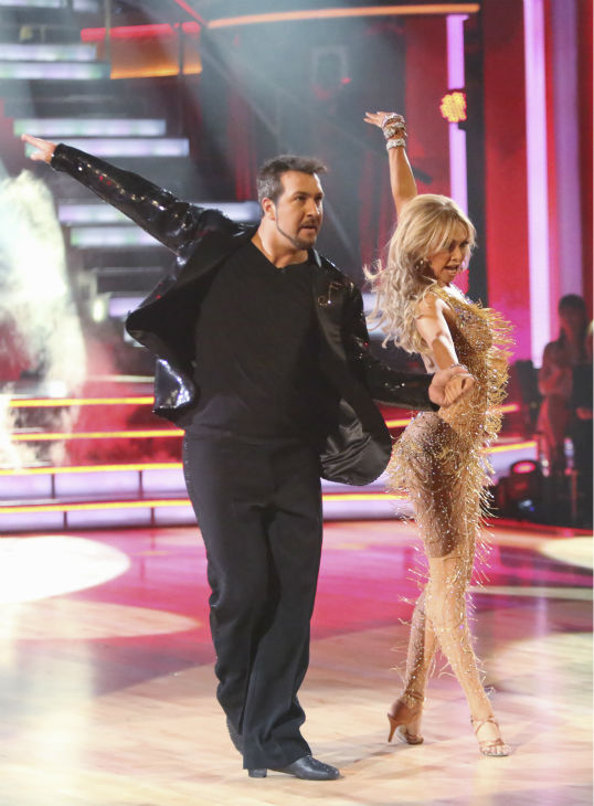 "<div class=""meta ""><span class=""caption-text "">Former member of the boy band 'N Sync, Joey Fatone and his partner Kym Johnson received 20.5 out of 30 points from the judges for their Cha Cha Cha on the season premiere of 'Dancing With The Stars: All-Stars,' which aired on September 24, 2012.  (ABC / Adam Taylor)</span></div>"