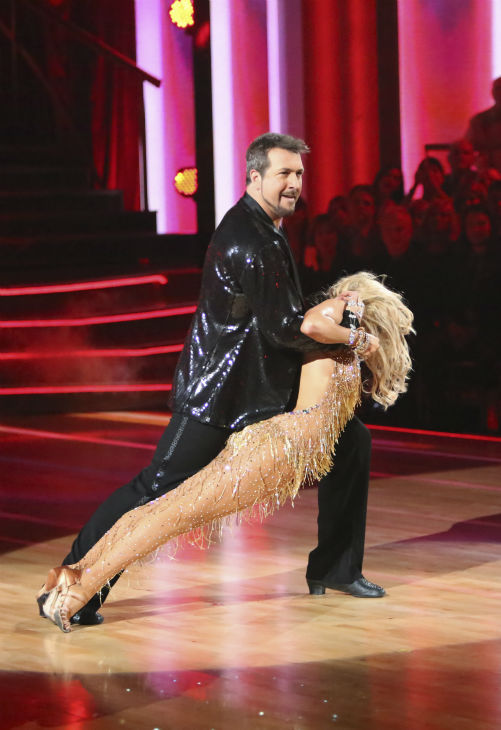 "<div class=""meta image-caption""><div class=""origin-logo origin-image ""><span></span></div><span class=""caption-text"">Former member of the boy band 'N Sync, Joey Fatone and his partner Kym Johnson received 20.5 out of 30 points from the judges for their Cha Cha Cha on the season premiere of 'Dancing With The Stars: All-Stars,' which aired on September 24, 2012.  (ABC / Adam Taylor)</span></div>"