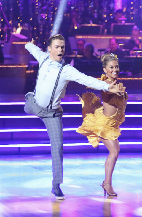 "<div class=""meta ""><span class=""caption-text "">Olympic gymnast Shawn Johnson and her partner Derek Hough received 22 out of 30 points from the judges for their Fox Trot on the season premiere of 'Dancing With The Stars: All-Stars,' which aired on September 24, 2012.  (Photo/Adam Taylor)</span></div>"