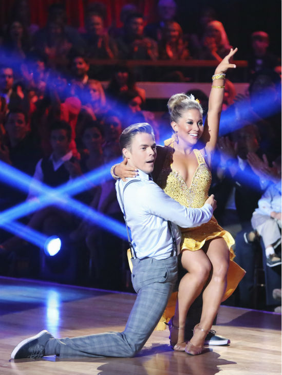 "<div class=""meta image-caption""><div class=""origin-logo origin-image ""><span></span></div><span class=""caption-text"">Olympic gymnast Shawn Johnson and her partner Derek Hough received 22 out of 30 points from the judges for their Fox Trot on the season premiere of 'Dancing With The Stars: All-Stars,' which aired on September 24, 2012.  (ABC / Adam Taylor)</span></div>"