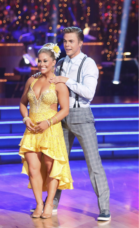 Olympic gymnast Shawn Johnson and her partner Derek Hough received 22 out of 30 points from the judges for their Fox Trot on the season premiere of &#39;Dancing With The Stars: All-Stars,&#39; which aired on September 24, 2012.  <span class=meta>(ABC &#47; Adam Taylor)</span>