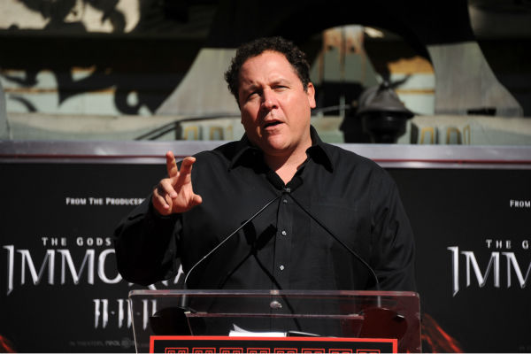 "<div class=""meta ""><span class=""caption-text "">Actor Jon Favreau speaks onstage at Mickey Rourke's Hand and Footprint Ceremony held at Grauman's Chinese Theatre on Oct.31, 2011 in Hollywood, California.  (Getty Images / Royalty-free / Frazer Harrison)</span></div>"