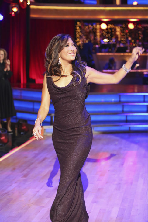 Judge Carrie Ann Inaba appears on 'Dancing With The Stars: All-Stars' on October 15, 2012.