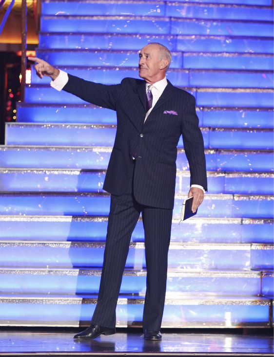Judge Len Goodman appears on 'Dancing With The Stars: All-Stars' on October 15, 2012.