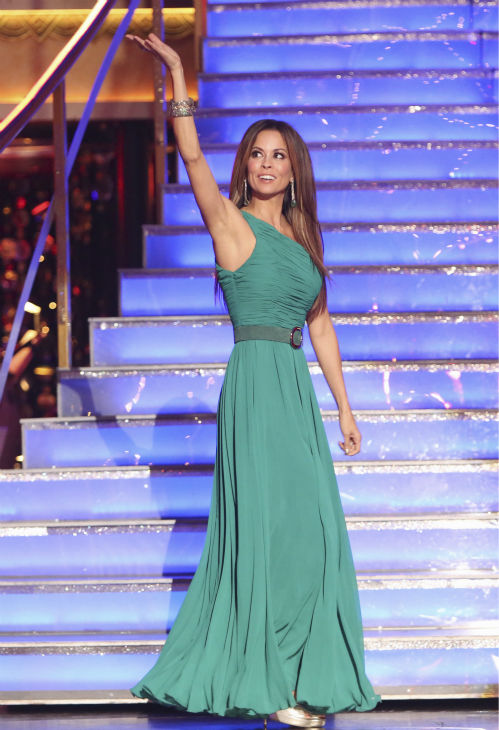"<div class=""meta ""><span class=""caption-text "">Co-host Brooke Burke Charvet appears on 'Dancing With The Stars: All-Stars' on October 15, 2012.  (ABC Photo / Adam Taylor)</span></div>"