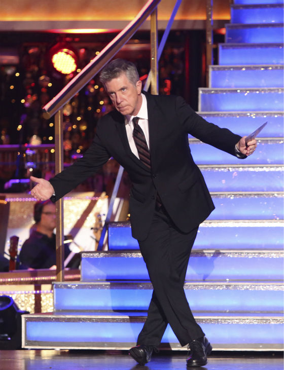 "<div class=""meta image-caption""><div class=""origin-logo origin-image ""><span></span></div><span class=""caption-text"">Co-host Tom Bergeron appears on 'Dancing With The Stars: All-Stars' on October 15, 2012.  (ABC Photo / Adam Taylor)</span></div>"