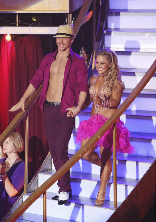 Olympic gymnast Shawn Johnson and her partner Derek Hough received 39.5 out of 40 points from the judges for their Mambo on &#39;Dancing With The Stars: All-Stars&#39; on October 15, 2012. <span class=meta>(ABC Photo &#47; Adam Taylor)</span>
