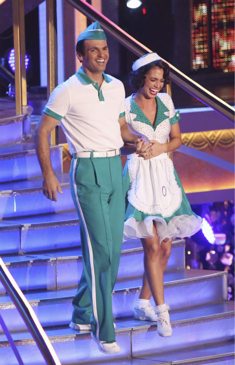 Reality star Melissa Rycroft and her partner Tony Dovolani received 37 out of 40 points from the judges for their Jitterbug on &#39;Dancing With The Stars: All-Stars&#39; on October 15, 2012. <span class=meta>(ABC Photo &#47; Adam Taylor)</span>
