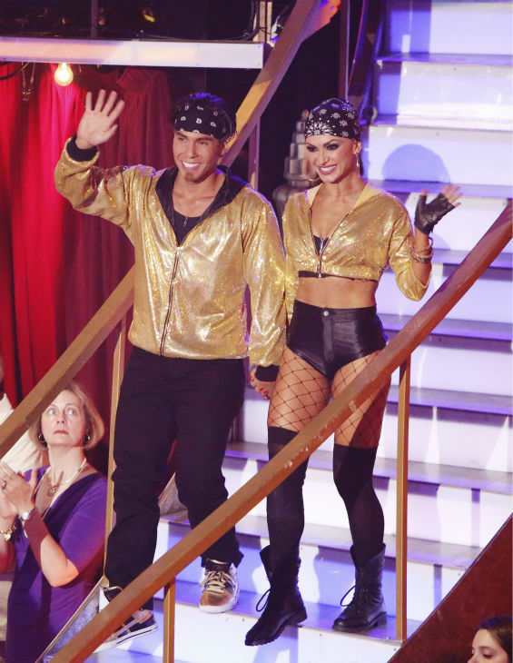 Olympic speed skater Apolo Anton Ohno and his partner Karina Smirnoff received 34.5 out of 40 points from the judges for their Hip-Hop on &#39;Dancing With The Stars: All-Stars&#39; on October 15, 2012. <span class=meta>(ABC Photo&#47; Adam Taylor)</span>