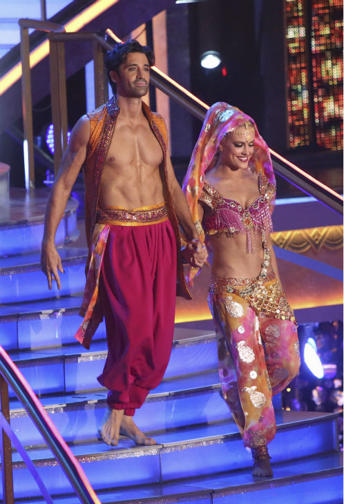"<div class=""meta image-caption""><div class=""origin-logo origin-image ""><span></span></div><span class=""caption-text"">French actor Gilles Marini and his partner Peta Murgatroyd received 39.5 out of 40 points from the judges for their Bollywood on 'Dancing With The Stars: All-Stars' on October 15, 2012. (ABC Photo / Adam Taylor)</span></div>"