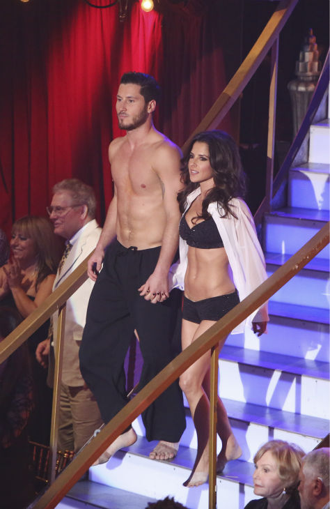 "<div class=""meta ""><span class=""caption-text "">'General Hospital' actress Kelly Monaco and her partner Valentin Chmerkovskiy received 37.5 out of 40 points from the judges for their Contemporary on 'Dancing With The Stars: All-Stars' on October 15, 2012. (ABC Photo / Adam Taylor)</span></div>"