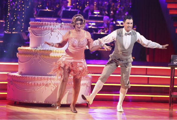 Actress Kirstie Alley and her partner Maksim Chmerkovskiy received 30 out of 40 points from the judges for their Charleston on &#39;Dancing With The Stars: All-Stars&#39; on October 15, 2012. <span class=meta>(ABC Photo&#47; Adam Taylor)</span>
