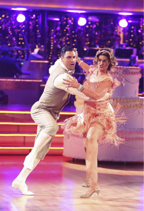 Actress Kirstie Alley and her partner Maksim Chmerkovskiy received 30 out of 40 points from the judges for their Charleston on 'Dancing With The Stars: All-Stars' on October 15, 2012.