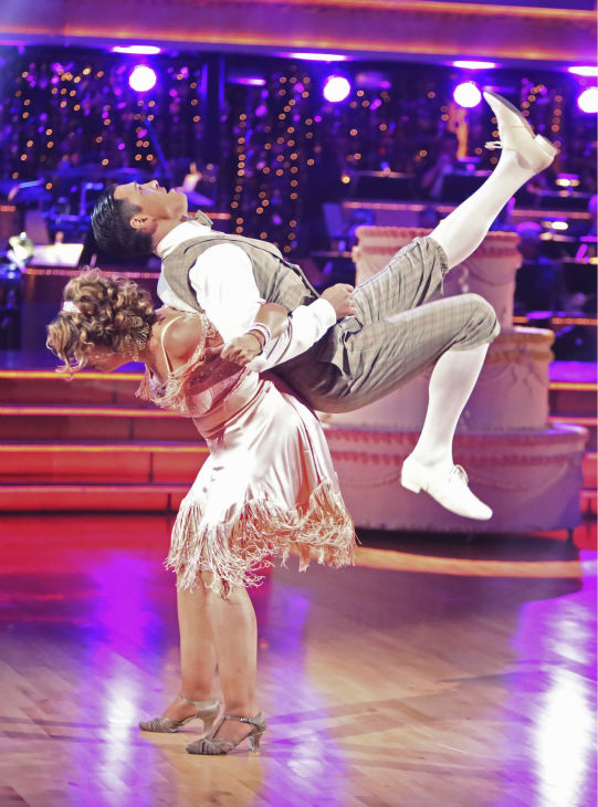Actress Kirstie Alley and her partner Maksim Chmerkovskiy received 30 out of 40 points from the judges for their Charleston on &#39;Dancing With The Stars: All-Stars&#39; on October 15, 2012. <span class=meta>(ABC Photo &#47; Adam Taylor)</span>