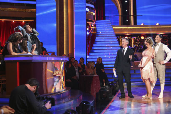 "<div class=""meta ""><span class=""caption-text "">Actress Kirstie Alley and her partner Maksim Chmerkovskiy received 30 out of 40 points from the judges for their Charleston on 'Dancing With The Stars: All-Stars' on October 15, 2012. (ABC Photo / Adam Taylor)</span></div>"