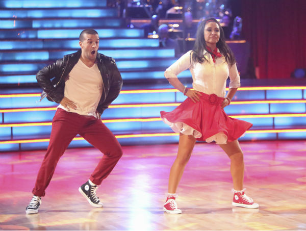 "<div class=""meta image-caption""><div class=""origin-logo origin-image ""><span></span></div><span class=""caption-text"">Reality star Bristol Palin and her partner Mark Ballas received 32 out of 40 points from the judges for their Rock and Roll on 'Dancing With The Stars: All-Stars' on October 15, 2012.  (ABC Photo / Adam Taylor)</span></div>"