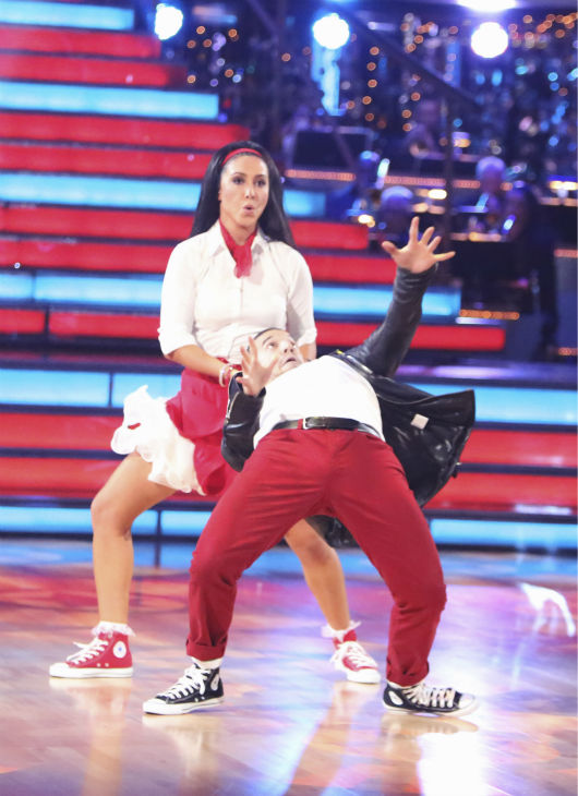 "<div class=""meta ""><span class=""caption-text "">Reality star Bristol Palin and her partner Mark Ballas received 32 out of 40 points from the judges for their Rock and Roll on 'Dancing With The Stars: All-Stars' on October 15, 2012.  (ABC Photo / Adam Taylor)</span></div>"