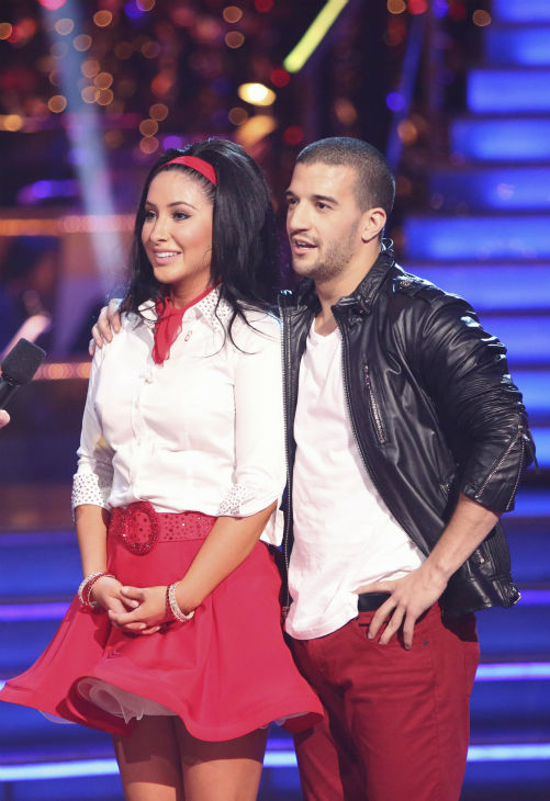 Reality star Bristol Palin and her partner Mark Ballas received 32 out of 40 points from the judges for their Rock and Roll on 'Dancing With The Stars: All-Stars' on October 15, 2012.