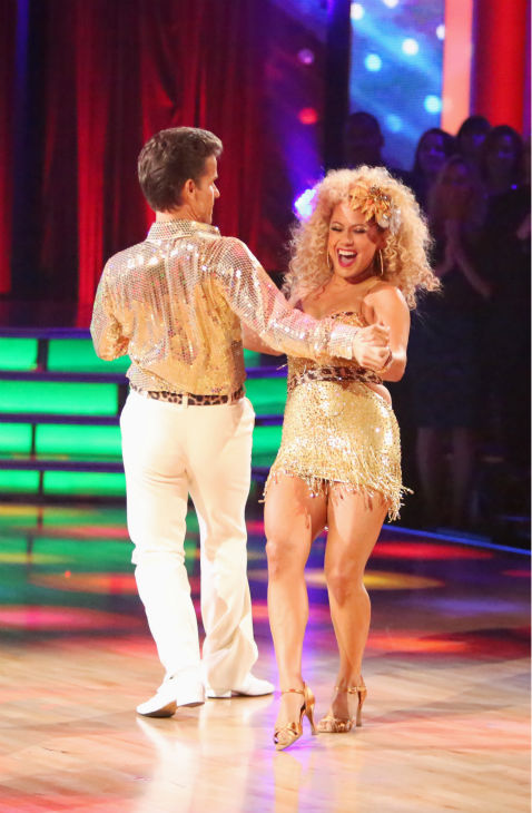"<div class=""meta image-caption""><div class=""origin-logo origin-image ""><span></span></div><span class=""caption-text""> Disney Channel actress Sabrina Bryan and her partner Louis Van Amstel received 35.5 out of 40 points from the judges for their Disco on 'Dancing With The Stars: All-Stars' on October 15, 2012.  (ABC Photo / Adam Taylor)</span></div>"