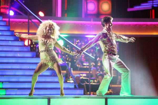 "<div class=""meta ""><span class=""caption-text "">Disney Channel actress Sabrina Bryan and her partner Louis Van Amstel received 35.5 out of 40 points from the judges for their Disco on 'Dancing With The Stars: All-Stars' on October 15, 2012.  (ABC Photo / Adam Taylor)</span></div>"