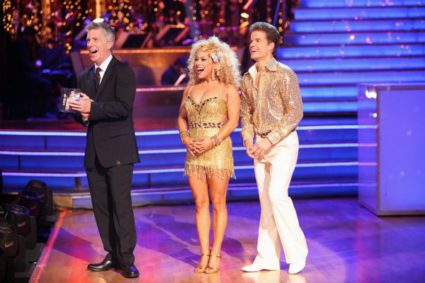 "<div class=""meta image-caption""><div class=""origin-logo origin-image ""><span></span></div><span class=""caption-text"">Disney Channel actress Sabrina Bryan and her partner Louis Van Amstel received 35.5 out of 40 points from the judges for their Disco on 'Dancing With The Stars: All-Stars' on October 15, 2012.  (ABC Photo / Adam Taylor)</span></div>"