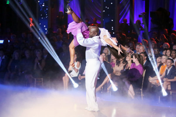 "<div class=""meta image-caption""><div class=""origin-logo origin-image ""><span></span></div><span class=""caption-text"">Retired NFL star Emmitt Smith and his partner Cheryl Burke received 36 out of 40 points from the judges for their Bolero on 'Dancing With The Stars: All-Stars' on October 15, 2012.  (ABC Photo / Adam Taylor)</span></div>"