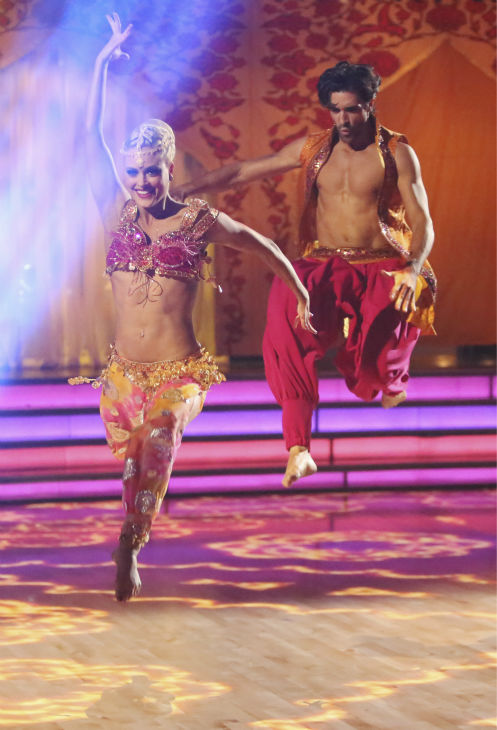 French actor Gilles Marini and his partner Peta Murgatroyd received 39.5 out of 40 points from the judges for their Bollywood on &#39;Dancing With The Stars: All-Stars&#39; on October 15, 2012. <span class=meta>(ABC Photo &#47; Adam Taylor)</span>