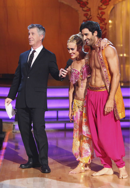 "<div class=""meta ""><span class=""caption-text "">French actor Gilles Marini and his partner Peta Murgatroyd received 39.5 out of 40 points from the judges for their Bollywood on 'Dancing With The Stars: All-Stars' on October 15, 2012. (ABC Photo / Adam Taylor)</span></div>"