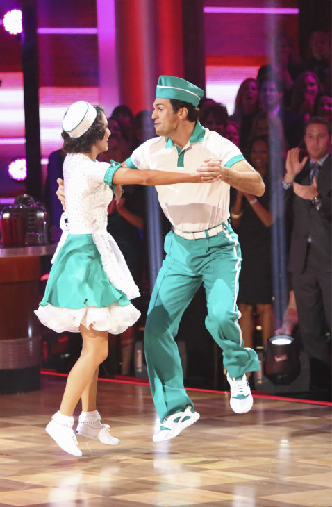 Reality star Melissa Rycroft and her partner Tony Dovolani received 37 out of 40 points from the judges for their Jitterbug on 'Dancing With The Stars: All-Stars' on October 15, 2012.